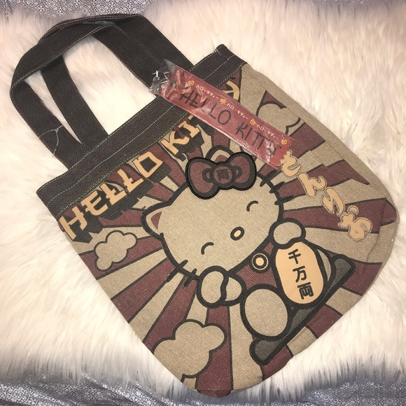 bcc9ba78f7 Loungefly Handbags - RARE New LOUNGEFLY SANRIO Hello Kitty Canvas Tote